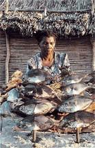 Marchande de poisson vezo Madagascar